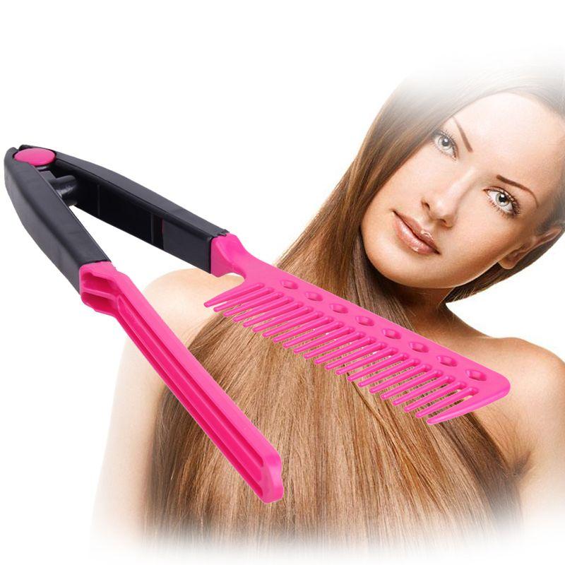 V Type de cheveux Combs professionnels Lisseur Peigne bricolage Salon de coiffure coupe de cheveux Styling outil salon de coiffure anti-statique Combs Brosse