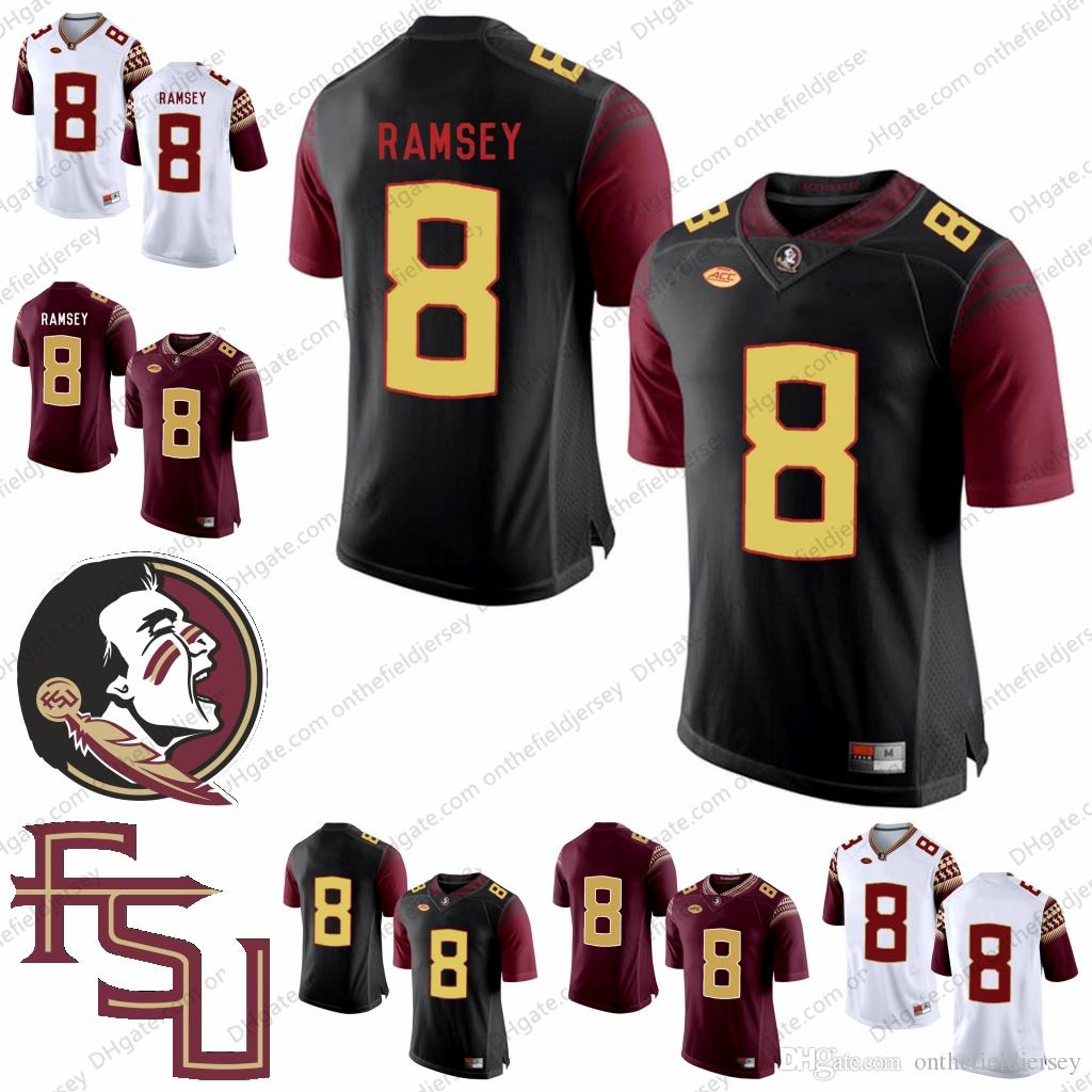 separation shoes 815da 5216d Florida State Seminoles NCAA Football #8 Jalen Ramsey 5 Jameis Winston 8  Devonta Freeman 12 Deondre Francois 4 Dalvin Cook Jerseys