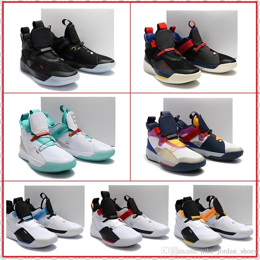 fbfe888d3c2 Brand's 33 Holiday 2018 Release Tech Pack Future of Flight Visible Utility Guo  Ailun PE Utility Blackout Men Newest Basketball Shoes Sneaker