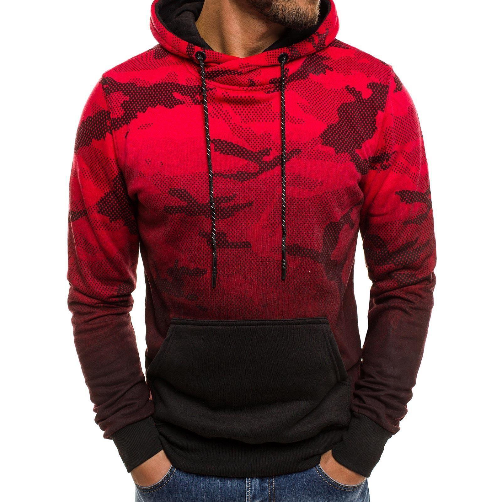 7aa085408e2 Men Cotton Hoodies Jacket Coat Long Sleeved Streetwear Fitness ...