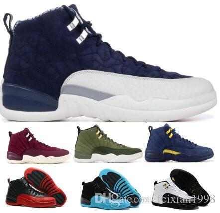 0497b0372f35e9 Mens 12 12s XII Basketball Shoes Sneakers Women Man 2018 Navy Class ...