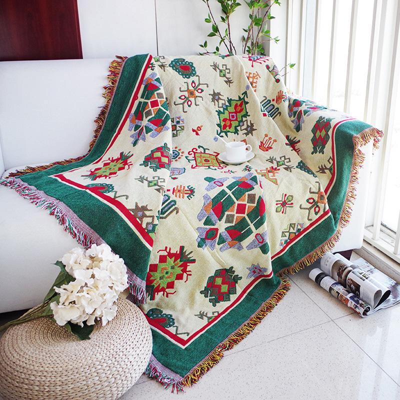 c2d57af51c Thickening Geometry Throw Blanket Christmas Decorative Cobertor Manta Para  Sofa Beds Travel Plaid Non Slip Stitching Blankets Velour Throw Pale Yellow  Throw ...