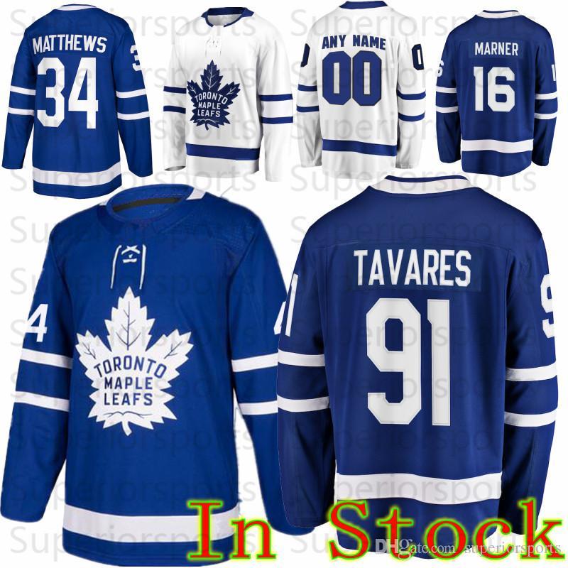 aee3abfcda3 Custom Toronto Maple Leafs 34 Auston Matthews 16 Mitch Marner 25 ...