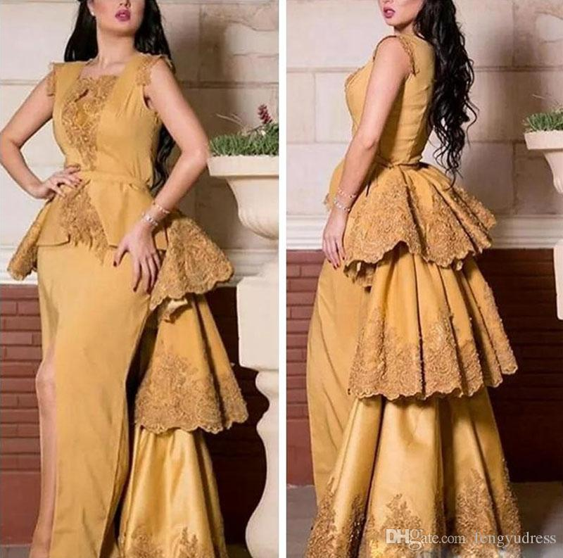 Nuovo stile elegante abito da sera in pizzo Applique su misura le donne vestito da promenade Occasioni speciali Occasioni formali