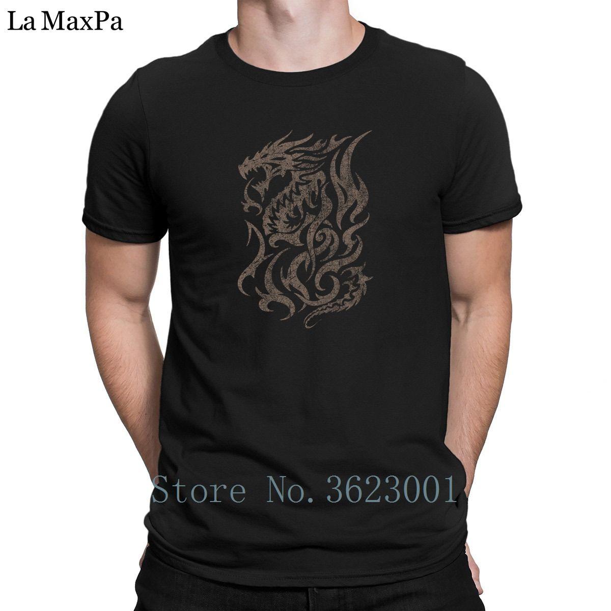 33e7249b0 Design Natural Tshirt Man Vintage Tribal Dragon Mens T Shirt Cotton Graphic  T Shirt Man Super Tee Shirt For Mens 2018 Awesome Super Cool T Shirts And T  ...
