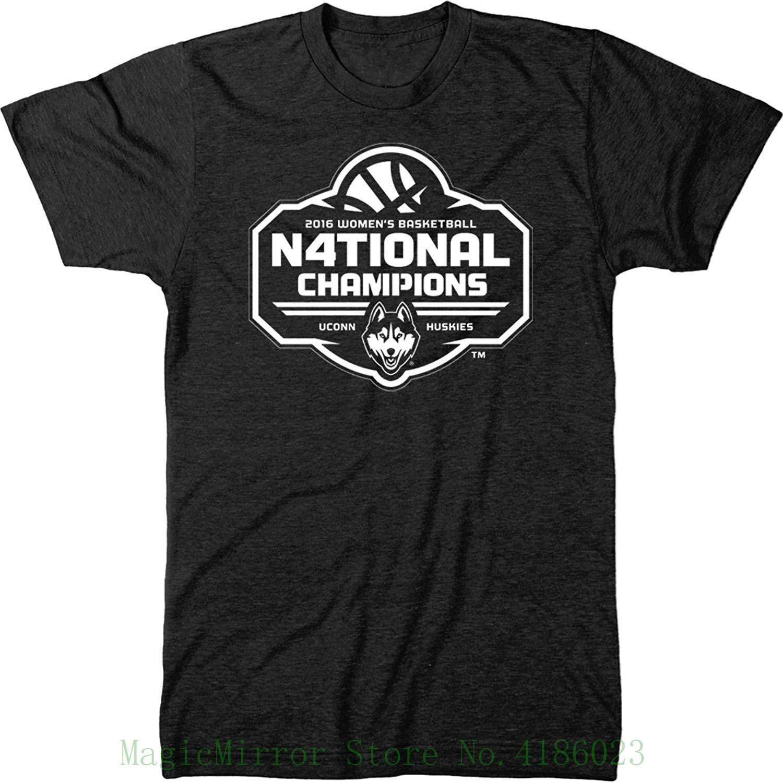 8fcc044751d6 Uconn Huskies 2016 National Champs White Logo Men's Tri - Blend T-shirt  Funny Tees Men Short