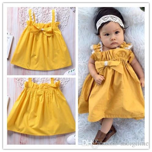 f8edb546c941 2018 Baby Children s Dresses for Girl s Clothing Bow Lace Princess ...