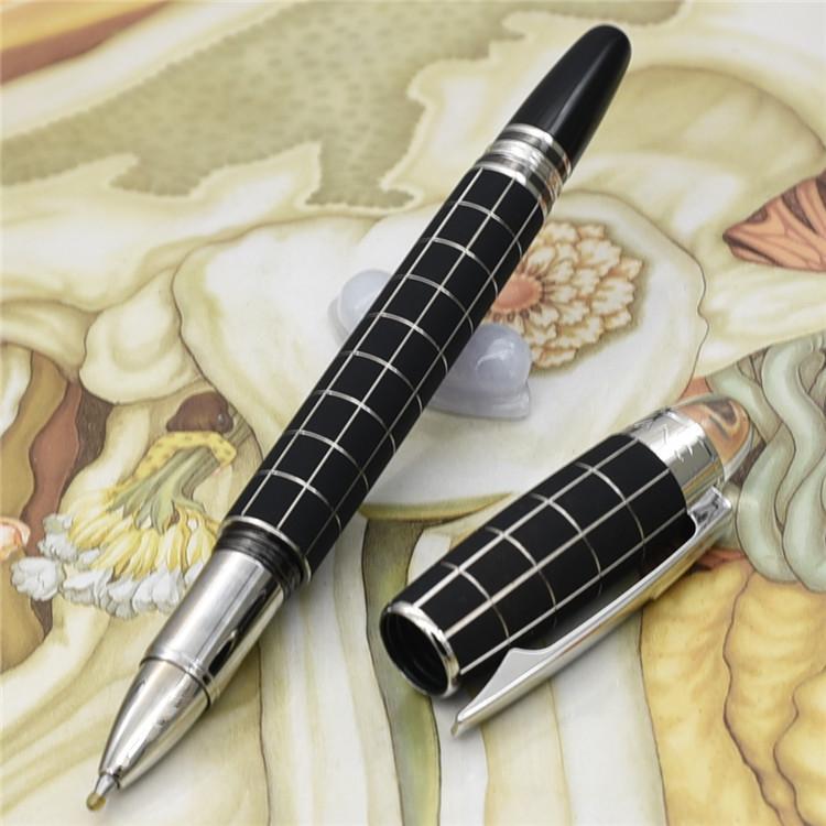 أقلام فريدة من نوعها تصميم فاخر مصمم الأسود الاختيار MB قلم حبر جاف مع الكريستال أعلى القرطاسية واللوازم المدرسية مكتب كتابة هدية العلامة التجارية القلم