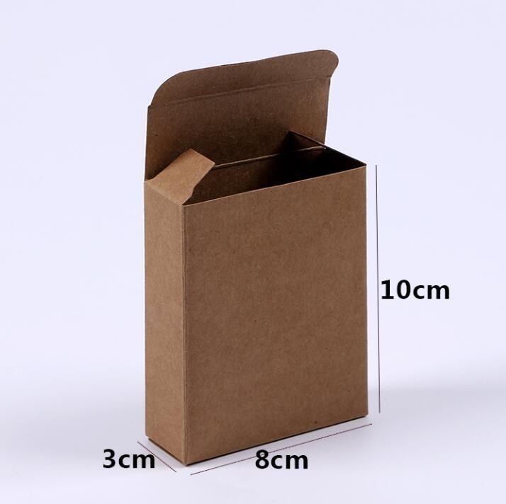 Acheter Retro Boite De Papier Kraft Carte Boite De Rangement Bijoux
