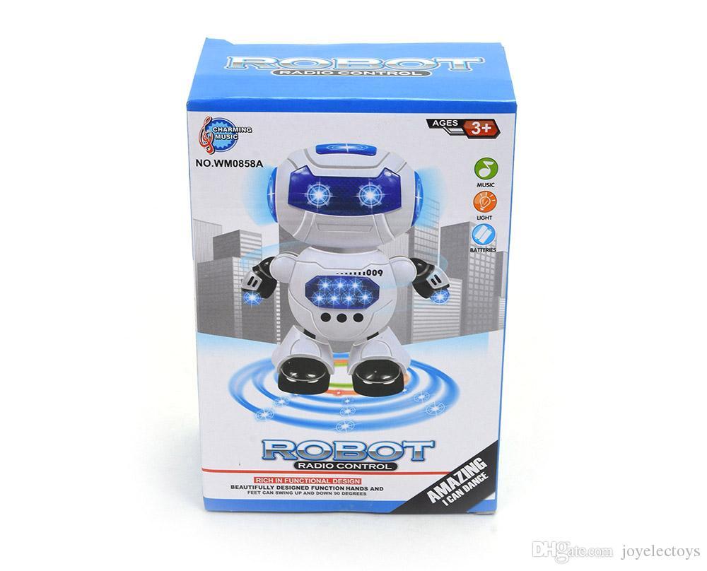 İstihbarat dans elektrik alfa robot oyuncak eğitici oyuncaklar çocuk oyuncak şarkı ve dans fonksiyonu ile LED ışık ile