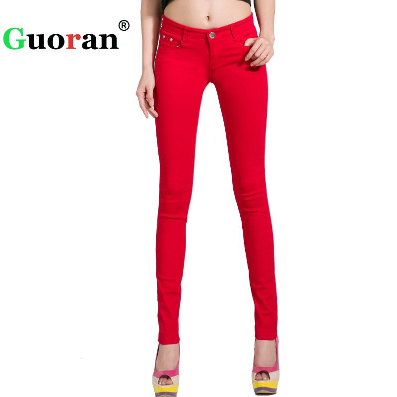 3e156bf4743f2 2019 Pants Women White Red Black 20 Candy Color Women Jeans Pants Plus Size  Skinny Trousers Stretch Jeans Leggings Femme Pantalon D1892003 From  Yizhan05