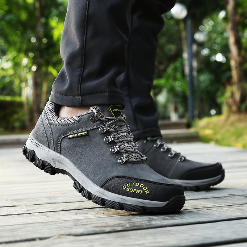 d7de59969ed Man Fashion Hiking Shoes Men Climbing Breathable Sport Walking Hunting  Athletic Outdoor Waterproof Sneakers Safety Work Shoes Rain Boots For Women  Wedge ...