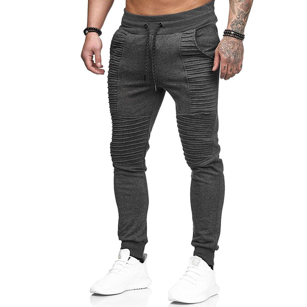 a62cec45c69 Fashion Mens Joggers Pants Fitness Sweatpants Autumn Winter Casual Male  Pockets Slim Long Trousers Plus Size A4 Online with  46.88 Piece on ...