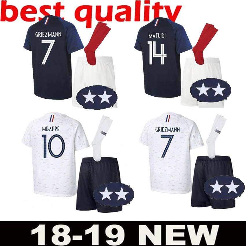 2018 19 France Adult Kit Pogba Soccer Jersey GRIEZMAN 2018 World Cup ... 0e9ccd10b