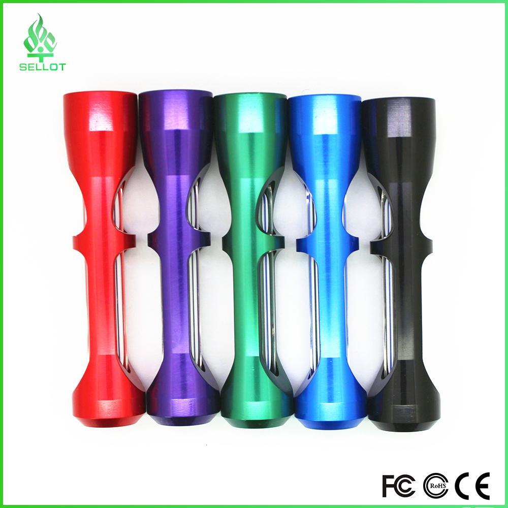 Chine en gros tuyau à main avec des tubes en aluminium en métal bol en verre twisty verre émoussé verre tuyau de pipe expédition DHL