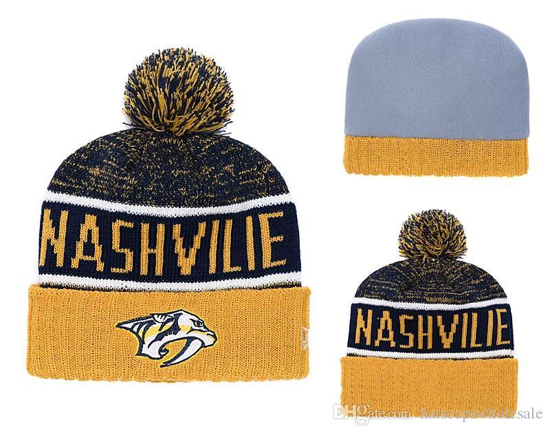 882f56c2f644c5 ... discount cheap 2019 new fans store nashville predators sport cuffed knit  hat brand fashion hockey all