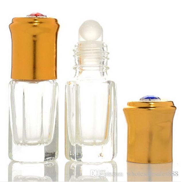 에센셜 오일 병에 3ml 유리 롤, 병 도매에 3ml 미니 유리 롤, 향수 병에 유리 롤