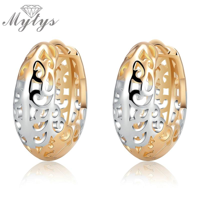 Wholesale- Mytys Pattern Hollow Earring GP Small Hoop Earring For Women And Girl  Jewelry Gift CE222 Small Hoop Earrings Hoop Earrings for Women Hoop ... 8e3a4f9c0f67