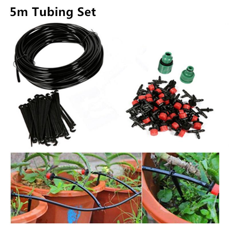 Grosshandel 5 M Micro Drip Bewasserung Kit Pflanzen Garten