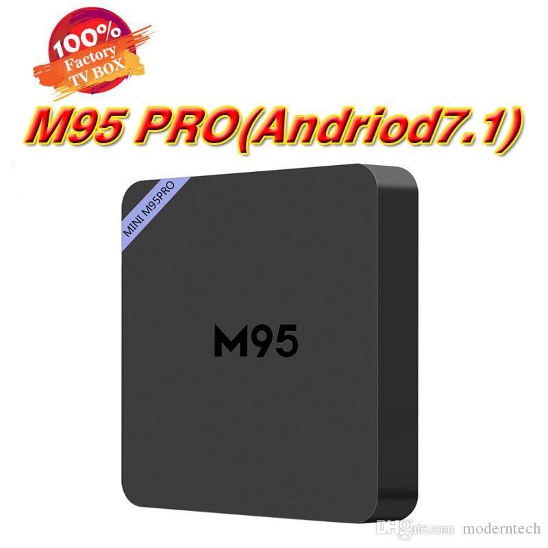 M95 PRO M95PRO Rockchip RK3229 Quad Core Android 7.1 TV Box 1G 8G WiFi HDMI 4K * 2K H.265 Aplicaciones Smart Google Play Store Reproductor de medios HD