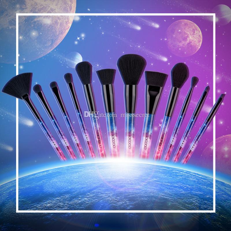 Docolor 12 Stücke Sterne Professionelle Make-Up Pinsel Premium Synthetische Kabuki Make-Up Pinsel Set Foundation Blending Blush Lidschatten Pinsel Werkzeuge