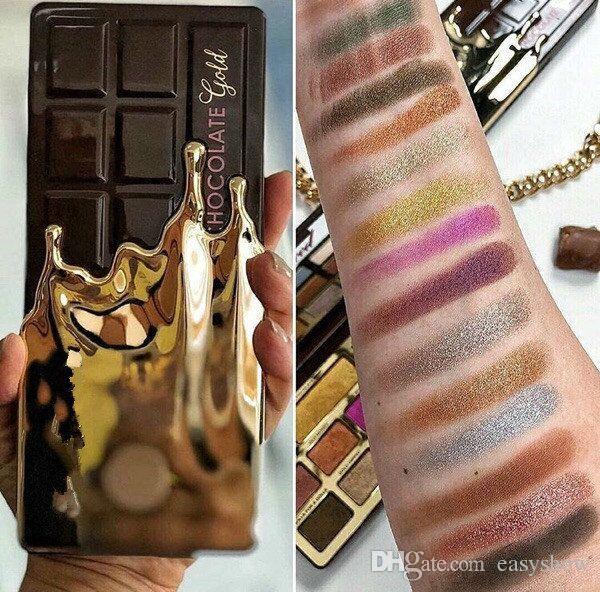 Presell Faced Makeup Palette Eye Shadow Chocolate Gold Eyeshadow metallic matte eye shadows natutal cocoa powder palette Free DHL