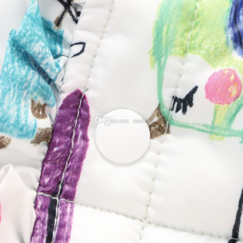 INS niñas bebés Chaleco con estampado floral Primavera Invierno Niños Niñas Chalecos de grafiti Abrigo Niños Niña Chaqueta con estampado floral Niños Ropa de abrigo Ropa