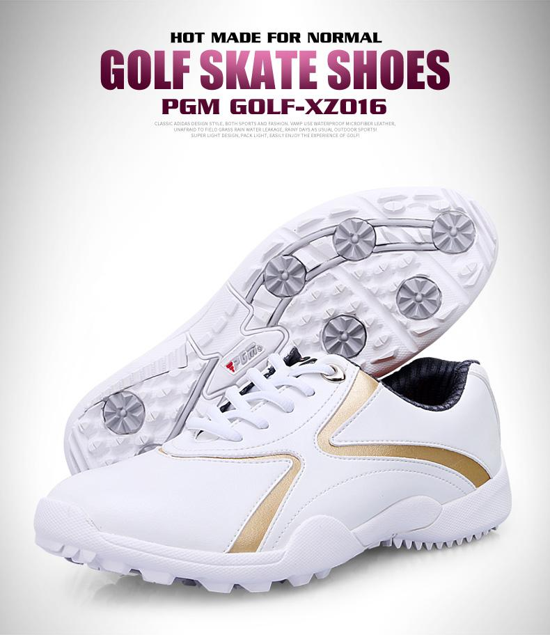 3cabb95d2 PGM 2017 Hot Selling Ladies Golf Shoes Waterproof Soft Microfiber Golf Shoes  Fixed Nail Women Golf Shoes Female Leather Sneaker Golf Shoes Waterproof  Golf ...