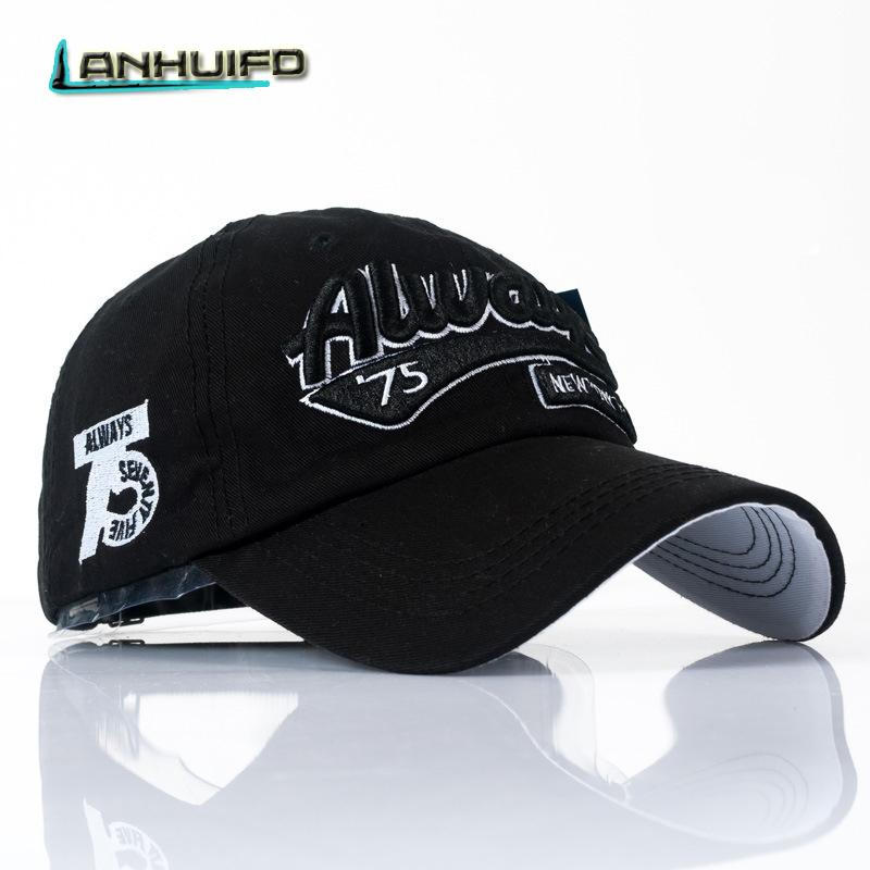 eac650e0df60ef LANHUIFD High Quality Washed Baseball Cap Cotton Snapback Letter Embroidery Hat  Men Women Vintage Dad Cap Outdoor Sports Beanies Kangol From Milknew, ...
