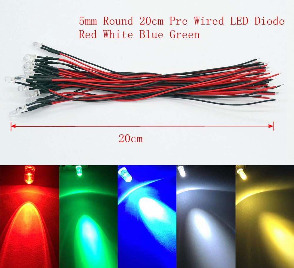 2019 5mm Round 20cm Pre Wired Dc 12v Led Lamp Light Bulb