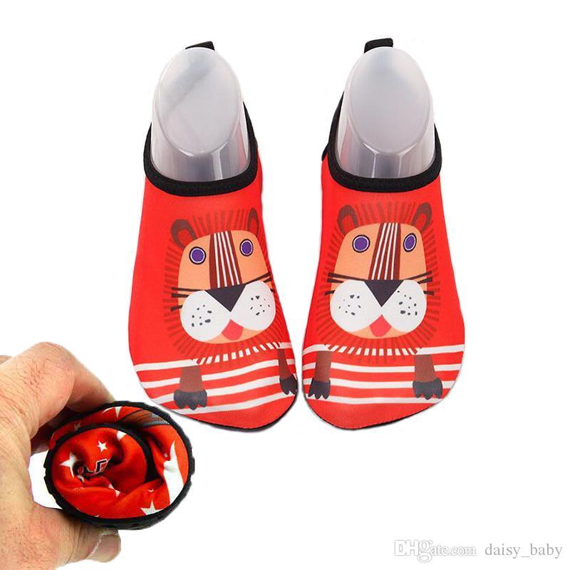 928f57aa Quick Dry Children Casual Shoes Sneaker Swim Lion Sport Running Anti-slip  For Swimming Pool/Beach Kids Shoe Boy Girl Sneakers