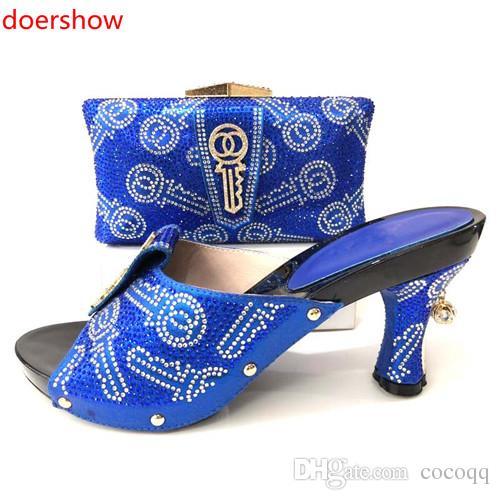 c6403cd7c1d06 Acquista Scarpe E Borse Di Design Italiano Da Abbinare A Scarpe E Borse Da Donna  Africane Scarpe E Set Di Borse Alla Moda Di Alta Qualità Nigeriana!