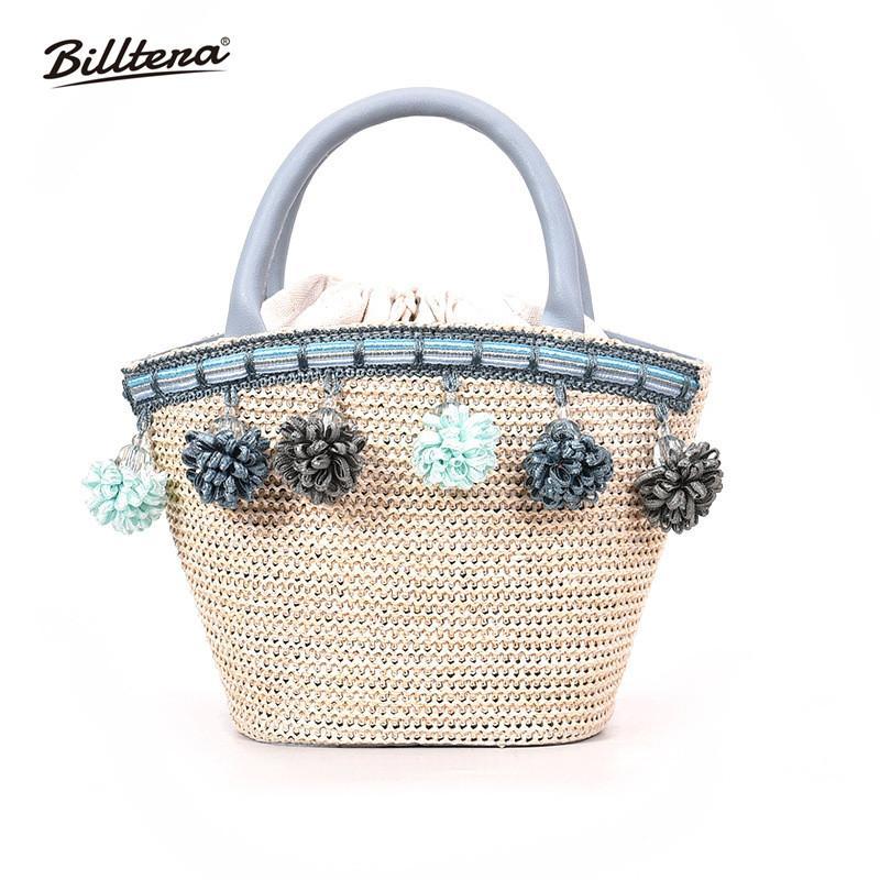 Billtera Summer Straw Handbags Fashion Women Shoulder Bag Draw