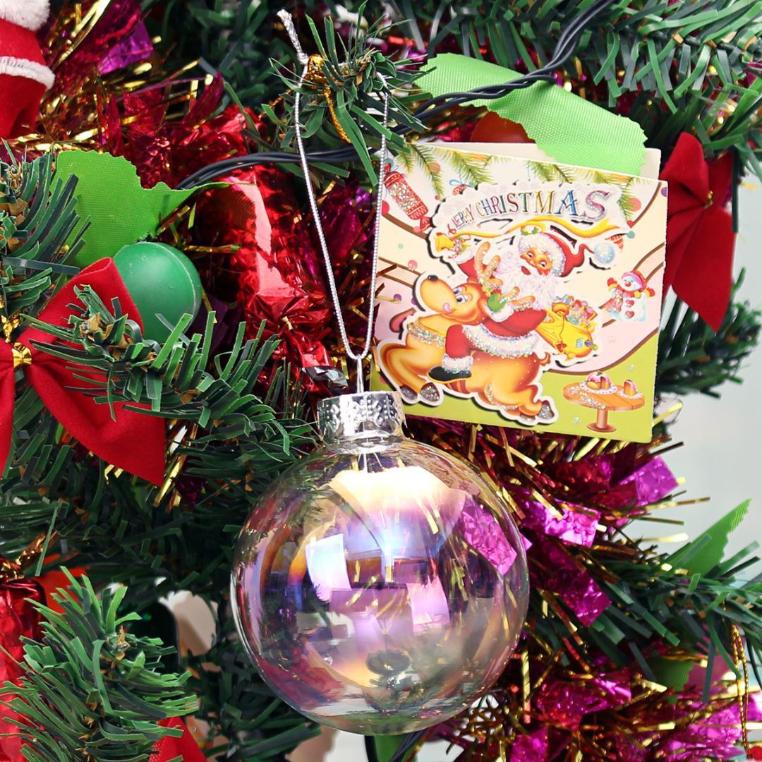 1189570be00 Compre Bolas De Navidad Transparentes Adornos De Navidad Adornos Bola  Colgante Fiesta De Año Nuevo Decoraciones Para El Hogar       A  36.2 Del  Blithenice ...