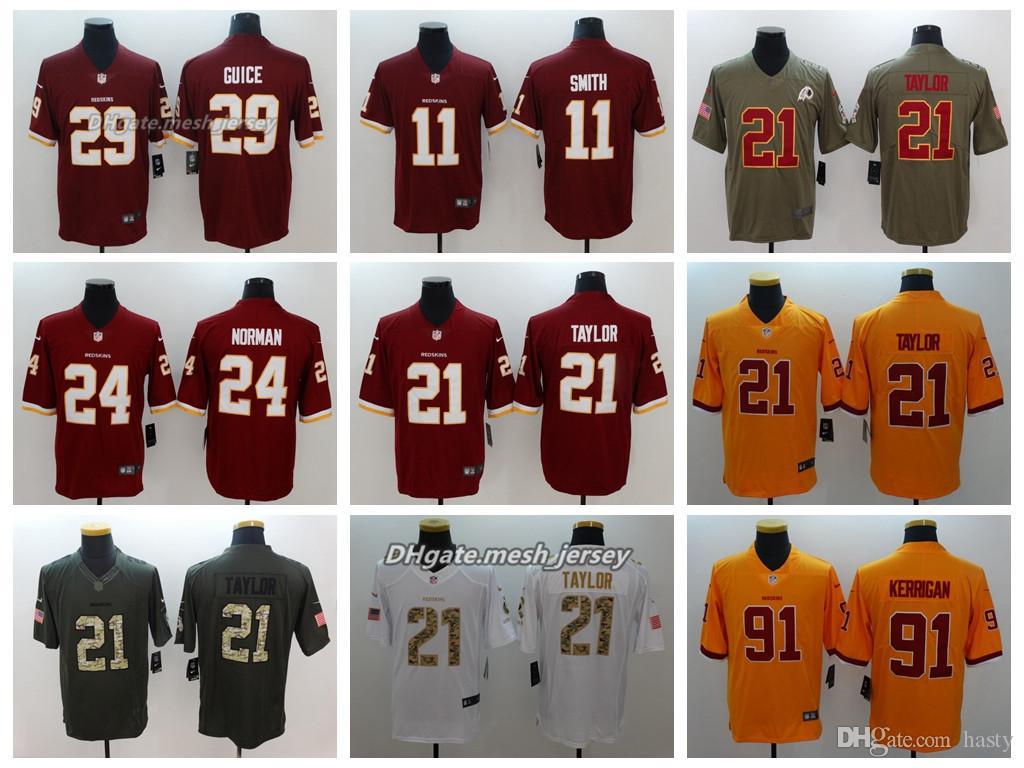 Men Washington Jersey Redskins 21 Sean Taylor 11 Alex Smith 24 Josh ... f23faef47