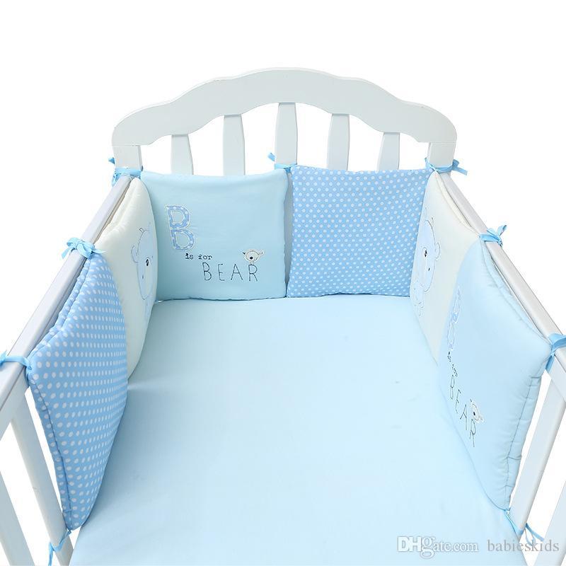 Venda quente 6 Pçs / lote Cama de Bebê Bumper no Berço Berço Bumper Protetor de Cama de Bebê Berço Bumper Recém-nascidos da Criança Da Cama Jogo de Cama