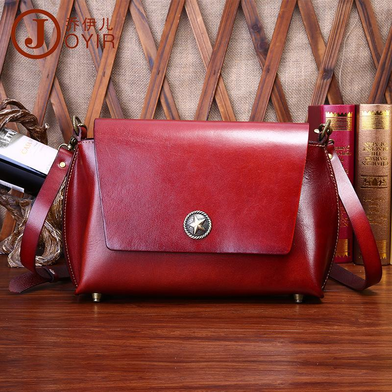 c81c3b5bdc Luxury Designer Genuine Leather Women s Messenger Bag Vintage Saddle Bag  Fashion Leather Wine Red Shoulder Crossbody Small Leather Bags Crossbody  Purses ...