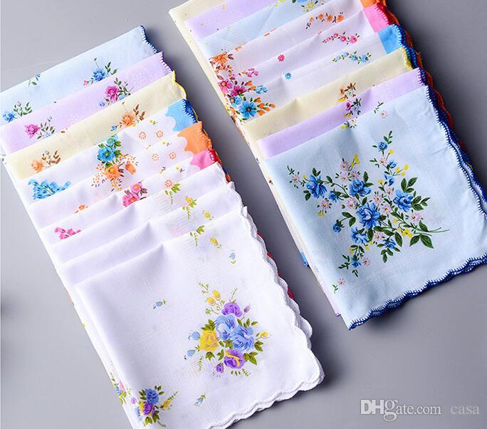 100  cotton handkerchief cutter ladies handkerchief craft vintage hanky floral wedding party