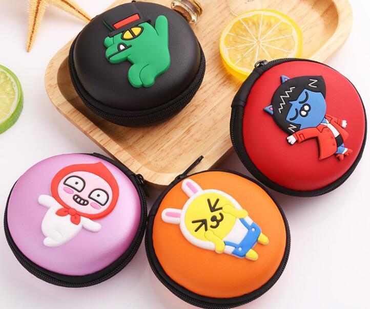 Japan und Korean Style Bunte frische Cartoon casual kreisförmigen geldbörse Kopfhörer paket münze aufbewahrungsbox aufbewahrungsbox handtasche