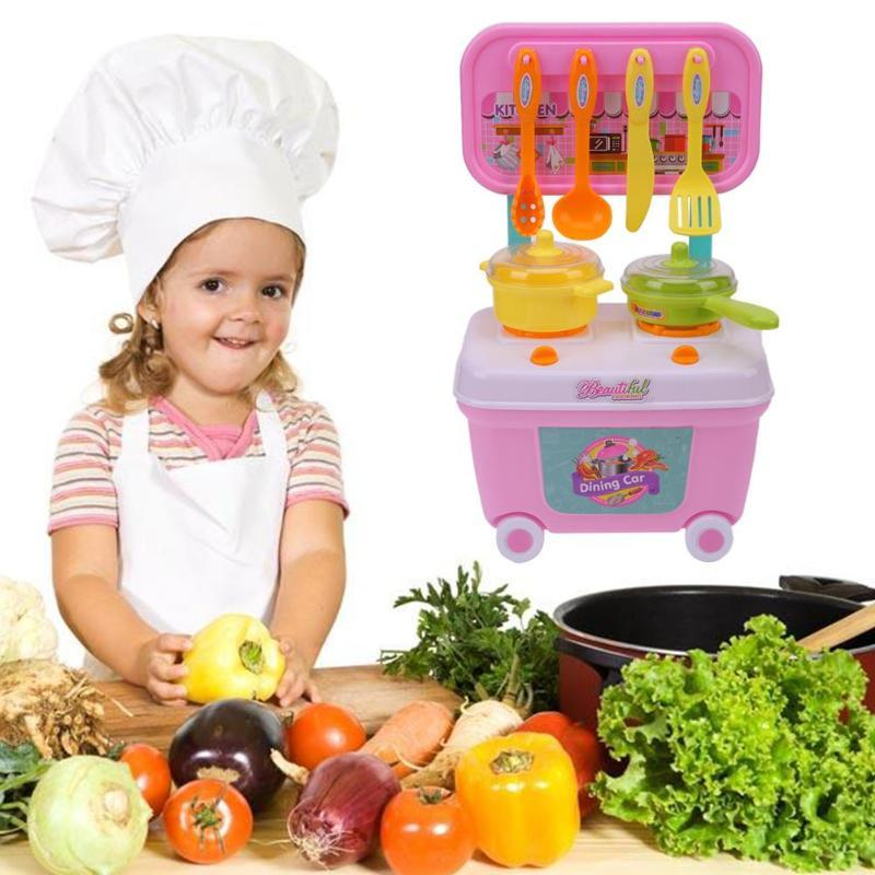 Kids Play House Toys Girl Tableware Sets Baby Toys Kitchen Cooking Simulation Model Kitchen Pretend Play