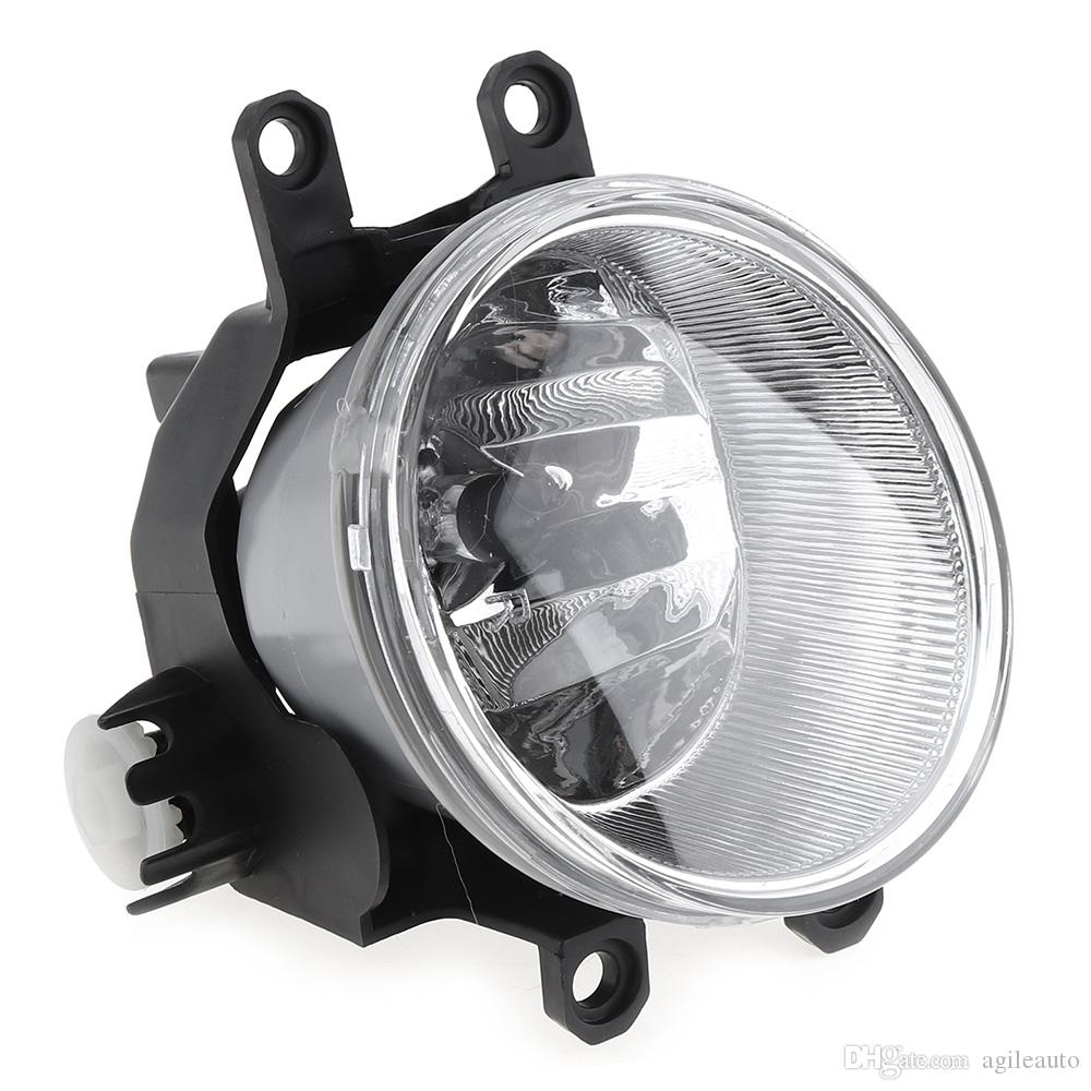 Round Chrome Housing Clear Lens 9005 Bulb Driver & Passenger Side Fog Lamps for Toyota Tacoma 2005-2011 Fog Lamps CLT_10G