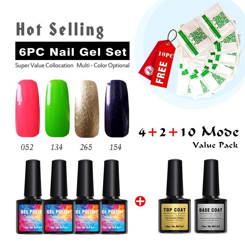Nail Gel Set 8ml Nail Polish Color Ink Gel Nail Art Salon High ...