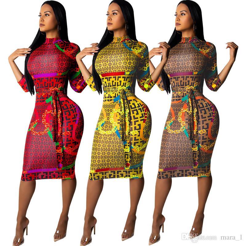 88f0f0aea Women Club Dress Brand Designer Long Sleeve Skirt Stand Collar Knee Length  Dress Plaid Nightclub Party Bodycon Sexy Dresses Fall Clothes Party Dress  White ...