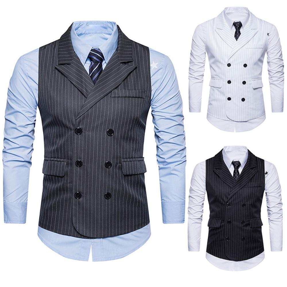 b048536e6646 2019 Men Formal Tweed Check Double Breasted Waistcoat Retro Slim Fit Suit  Jacket Gentleman Style Custom Made Mens From Bida Amy, $28.76 | DHgate.Com