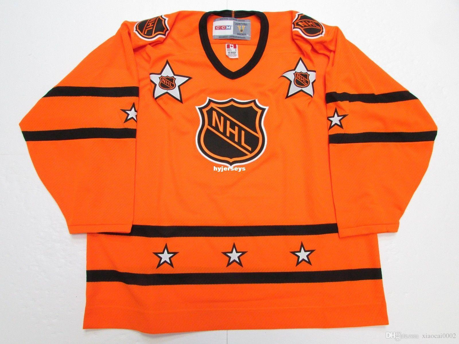 f65d166f9 2019 Cheap Custom 1973 78   1980 81 NHL ALL STAR GAME VINTAGE CCM ORANGE HOCKEY  JERSEY Orange Embroidery Jerseys From Xiaocai0002
