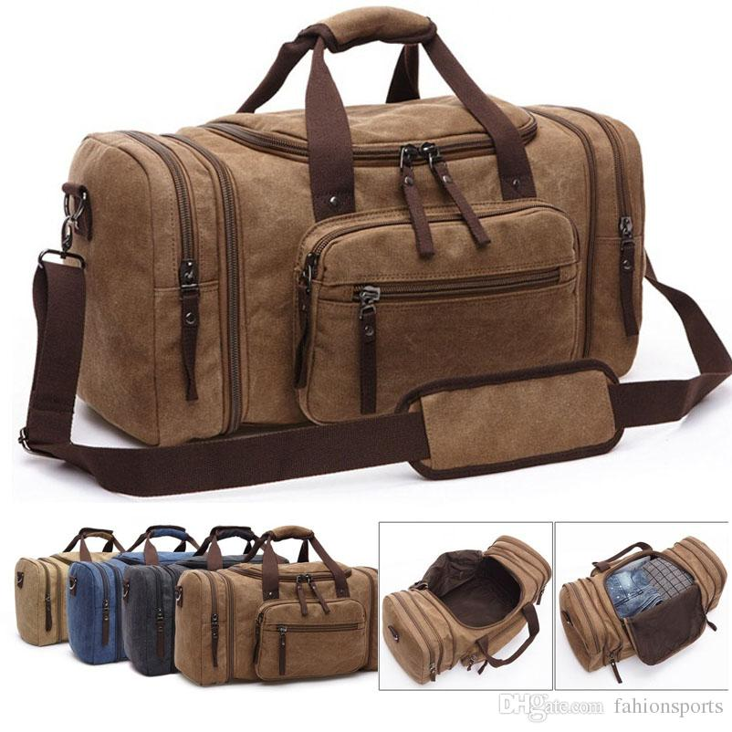 2019 Men Travel Bags Leisure Travelling Bag Business Large Capacity Travel  Luggage Weekend Bag Canvas Bolso Viaje Bags Reisetasche From Fahionsports,  ... a693700261