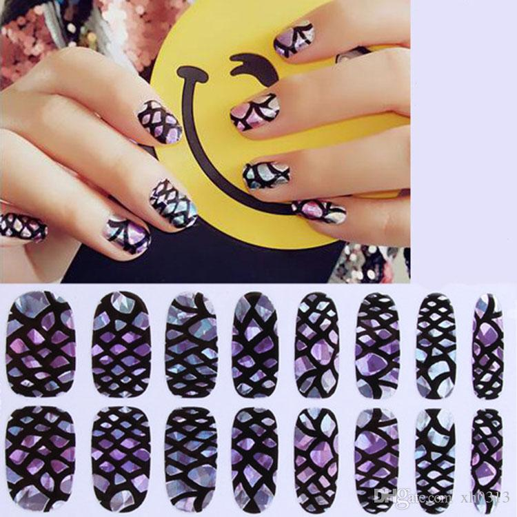 Hot Sale 12 Style Fashion Design 3d Nail Art French Decals Sticker ...