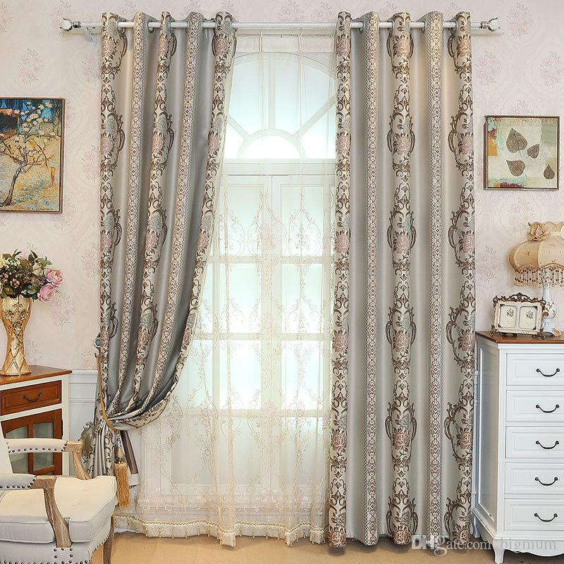 European Style Yarn-Dyed Jacquard Curtain for Living Room Thick Blackout  Blinds Custom Bedroom Curtains Fabric Window Treatment