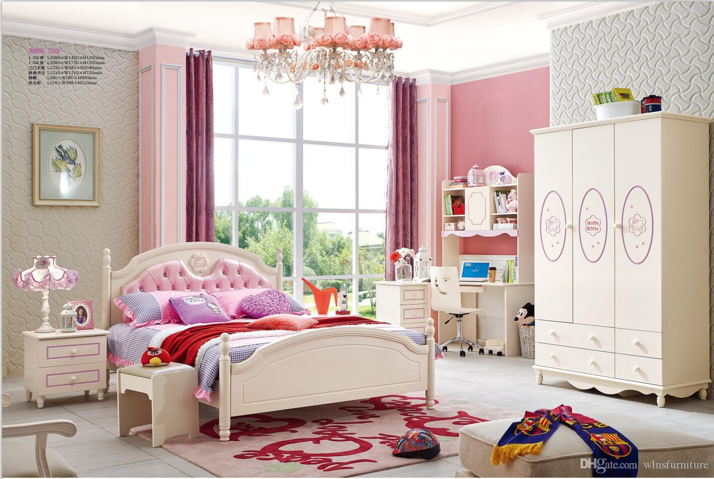 2019 ash solid wood children bedroom furniture set health environmentally friendly children bed wardrobe desk bedside table from wlnsfurniture