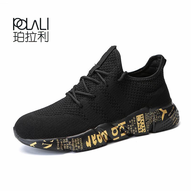 67e8eaba6ad11a ... Pour Hommes Chaussures De Course 2018 Summer Espadrilles Respirantes  Mesh Homme Amortissement Run Gold Grande Taille 46 De $24.24 Du Mtaiyang |  DHgate.